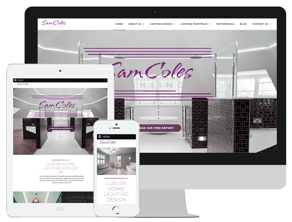 SCL Responsive Website Design Digital Marketing Click Return Sam Coles Lighting